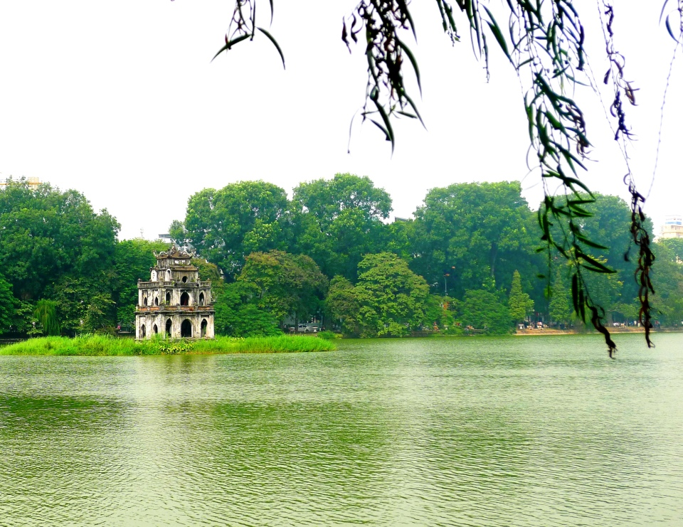 A temple resting upon a lake for centuries.