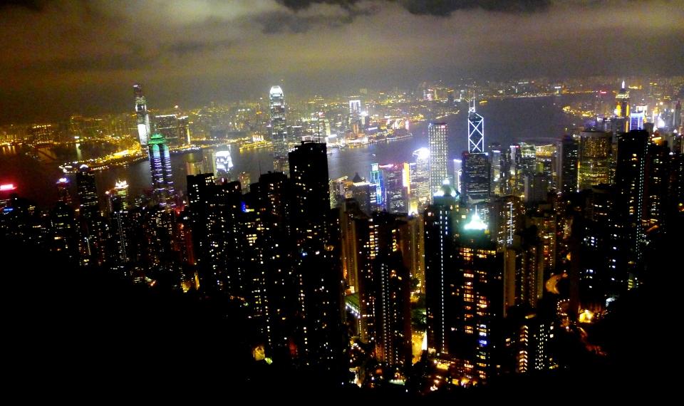 Hong Kong lights up the night!